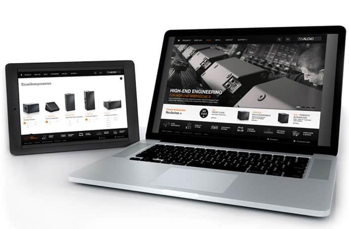TWAUDiO Entwicklung Website