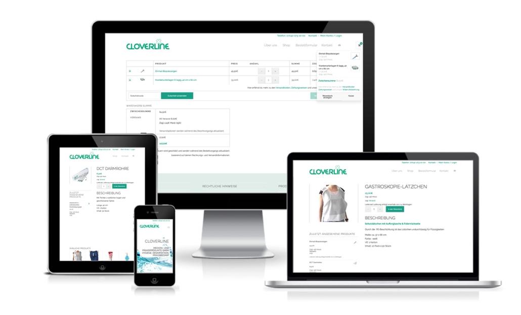 Cloverline Onlineshop für medizinische Produkte
